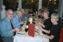 LALG Guests at Dinner